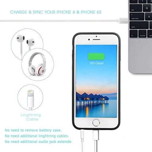 DOGIDOLI iPhone 6 Plus Coque chargeur 2500 mAh Ultra fin Extended Coque batterie portable étui de chargement pour iPhone 6 6S PLUS noir