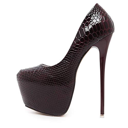 b6950551ffb New Snakeskin Pumps 16 CM High with Club High Heels Sexy High-Heeled Shoes  Women