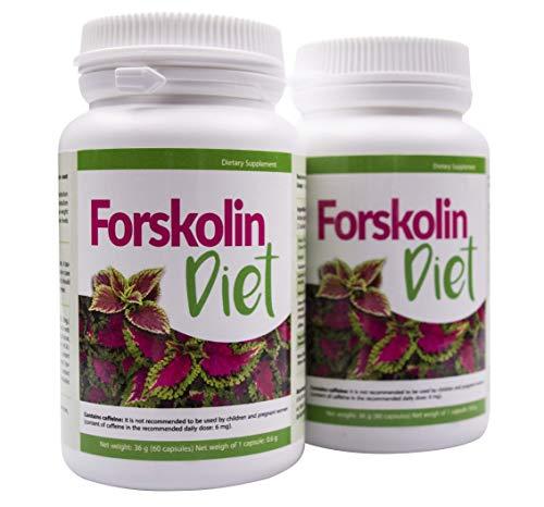 ✅FORSKOLIN DIET Abmagerungs-Kur, 2er Pack, bis zu 11 kg pro Monat abnehmen, 100% pflanzliche Extrakte, stärkt den Kreislauf, regt den Stoffwechsel an, senkt den Blutdruck, für besseres Wohlbefinden!