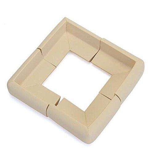 Lsuper Kit di 4 protezioni per angoli e bordi, in gomma ecologica, protezione antiurto per tavolo e mobili, spessa protezione per bordi del tavolo per bambini e neonati, design a forma di L