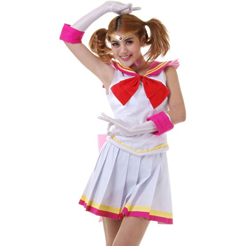Chibiusa Sailor Chibi Moon Kostüm Japanische Schuluniform Baumwolle XL (Japanische Sailor Kostüm)