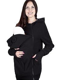 Hrph Otoño Las mujeres embarazadas La nueva capa de paño grueso y suave del diseño del portador de bebé canguro El uso de sudaderas con capucha bebé Frock