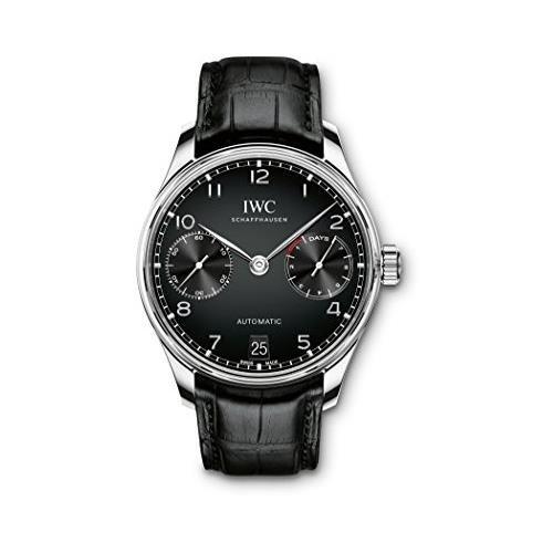 iwc-homme-42mm-bracelet-cuir-noir-boitier-acier-inoxydable-automatique-analogique-montre-iw500703