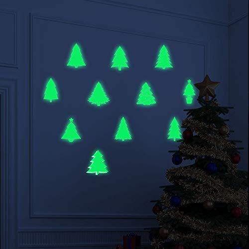 CAOQAO Fensterbilder for Weihnachts Und Winter Dekoration, WeihnachtsglüHen Schneemann Wandaufkleber Wohnzimmer Leuchtende Aufkleber Fenster Dekor, 50 * 70cm
