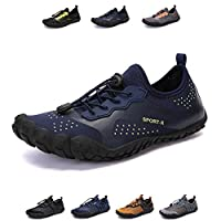 YUHUAWYH Water Shoes Mens Womens Barefoot Shoes Slip-On Quick Drying Aqua Shoes for Water Activities Beach Fishing Fitness Blue/Green