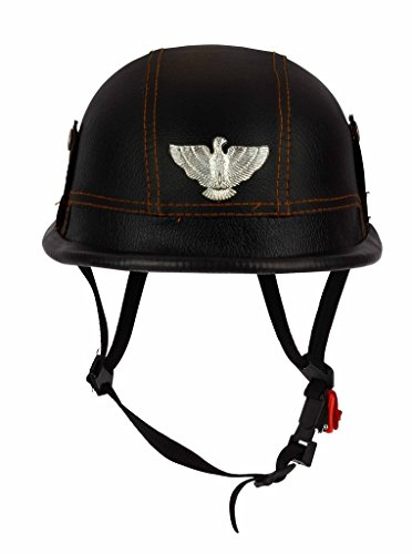 O2 Riderswear Leather German Hat (Black)