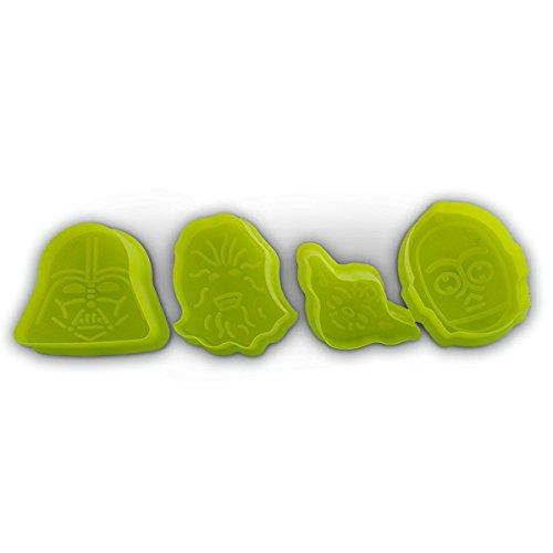 4 pzs cortadores de galleta Star Wars para Tartas, Decoración, Fondant, Moldes, Hornear by TARGARIAN