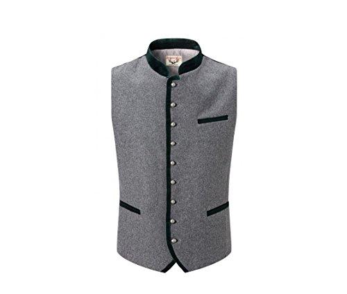 Michaelax-Fashion-Trade Stockerpoint - Herren Trachten Weste in verschiedenen Farben, Alonso, Größe:52, Farbe:Grau