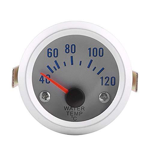 Wassertemperaturanzeiger, 52mm 2 '' Universal Auto Motor Digital Blaue LED Wassertemperatur Temperaturanzeige 40-120 ℃ Bereich