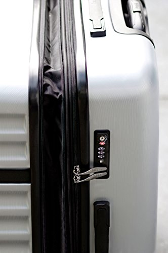 bugatti, Corium Expandable, 4 Doppel-Rollen Kabinen-Hartschalen Koffer, leichter erweiterbarer Trolley, L - 75 cm, TSA Schloss, 98 l, 4.18 kg, silber - 3
