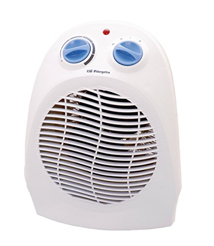 Orbegozo FH5010 Calefactor Vertical, Termostato Regulable, 2 Posiciones de Funcionamiento, Función...