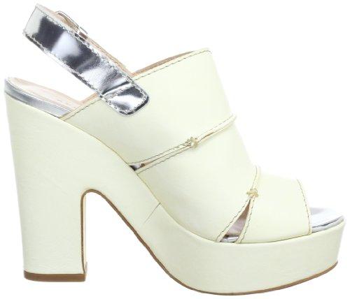 Objects in Mirror B842, chaussures compensées femme Blanc - Elfenbein (Panna-Argento)