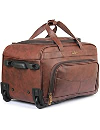 The Clownfish Reiziger 40 liters Faux Leather Travel Duffle Trolley c94f19388380d