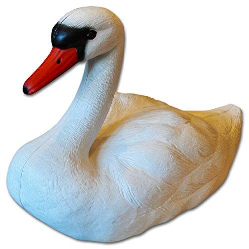Cygne flottant Décoration pour l'étang de jardin 36cm (Swan)