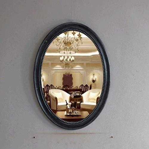 WENYAO Einfacher Badezimmerspiegel Oval Wasserdichter Dekorativer Spiegel zur Wandmontage