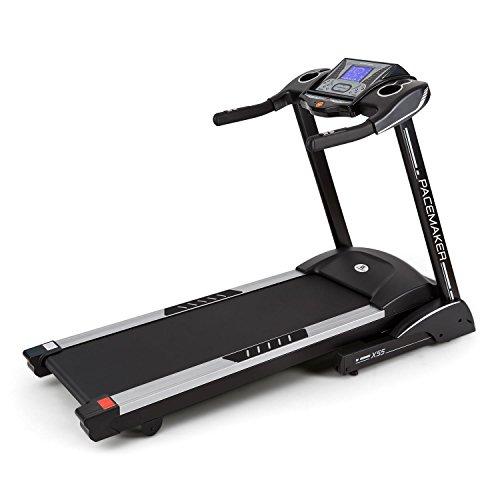 Capital Sports Pacemaker X55 • Tapis roulant • 2-22 km/h • LCD • 25 programmi • Misuratore d i impulsi • Radio • 1%-inclinazione del 16% • Altoparlanti integrati • Pieghevole Nero