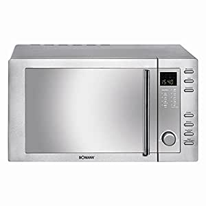 Bomann MWG 2281 H CB - microwave oven with convection and grill - freestanding - stainless steel