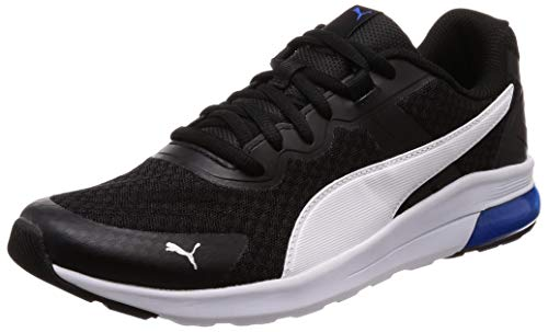 Puma Electron', Scarpe da Fitness Unisex-Adulto, Nero Black White-Strong Blue, 44.5 EU