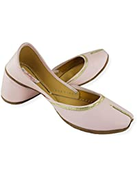 7449ca32c Fulkari Prime Women s Soft Leather Bite and Pinch Free Nappa Leather Comfortable  Casual Jutis Ethnic Flat