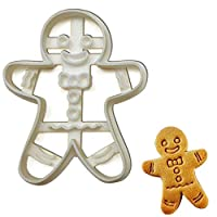 Happy Gingerbread Man Cookie Cutter, 1 Piece - Bakerlogy