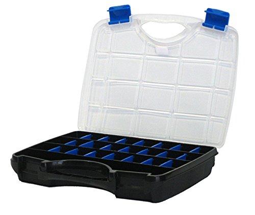 3 x TAYG Sortimentskästen & Werkzeugkoffer Basic Box 03 – 8,5 Ltr/ bis zu 26 Fächer /460 x 350 x 81 mm- schwarz-blau - 2