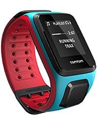 TomTom Runner 2 Music - Montre GPS - Bracelet Large Turquoise / Rouge (ref 1REM.001.00)