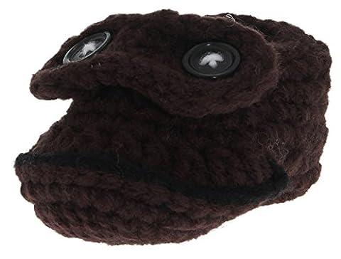 La vogue Braun Mädchen Handarbeit Baby Socken Schuhe Babyschuhe Krabbelschuhe Erstlingssocken (Prada Stoff)