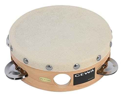 Gewa 841300 Traditionell Tambourin mit Schellen, 15,2 cm (6 Zoll)