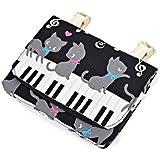 Siempre gato negro bailando vals en la parte superior del conjunto de mi bolsillo movimiento con el piano de bolsillo (negro) hecho en Japoen N6001000