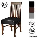 Funda de silla elástica Spandex pu para comedor, Funda protectora para silla de estiramiento...