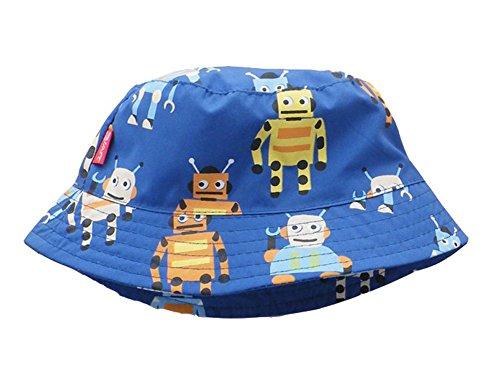 Minetom Baby Junge Kinder Sommer Herbst Dinosaurier Krabbe Roboter Muster Sonnenhut Kinderhut Strandhut Hut Mütze Fischerhut Blau 52cm Stricken Hut Mit Visier Für Baby-jungen