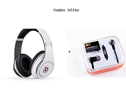Beats SH-13 Wireless Bluetooth Headphone (White) Free JBL Synchroes E10 Earphone  available at amazon for Rs.2999