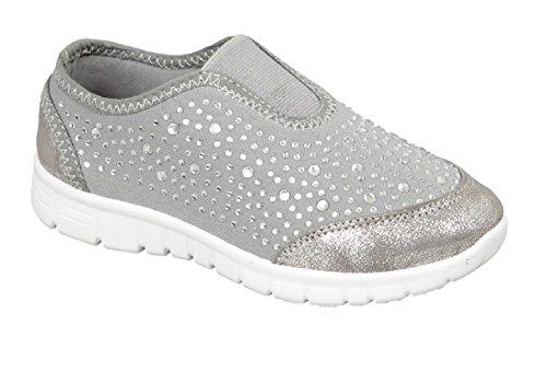 Koo-T , Mädchen Sneaker Grau