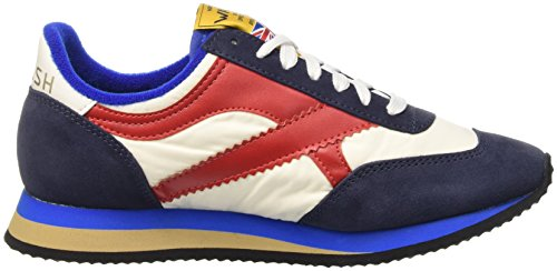 Walsh Herren Tornado Niedrige Schuhe Mehrfarbig - Multicolore (Blanc/Navy/Red/Bleue)