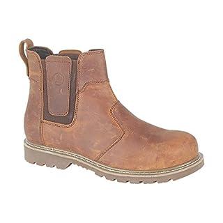 Amblers Mens Abingdon Mens Boot Brown Crazy Horse Leather Dealer Boot 10