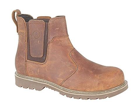 Amblers Mens Abingdon Mens Boot Brown Crazy Horse Leather Dealer Boot 11