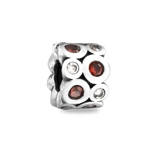 Bling Jewelry Garnet Colore CZ gennaio Birthstone 925 Bead