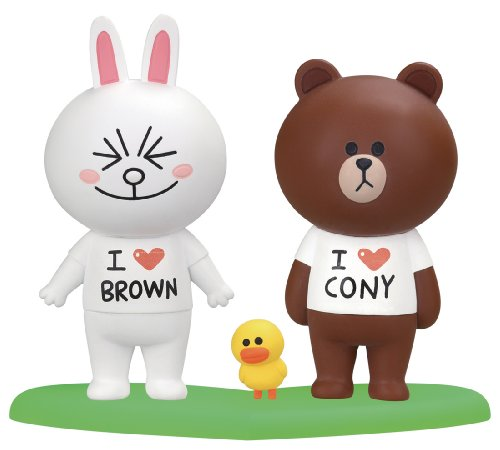 LINE CHARACTER Brown & Connie Love Love set (japan import)