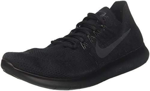 Nike Men's Free RN Flyknit 2017 Competition Running Shoes, Black  (Black/Anthracite), 10 UK 45 EU