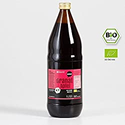 6 x 1l Wohltuer Bio Granatapfelsaft | 100% Granatapfel Direktsaft aus kontrolliert biologischem Anbau, Vorratspack