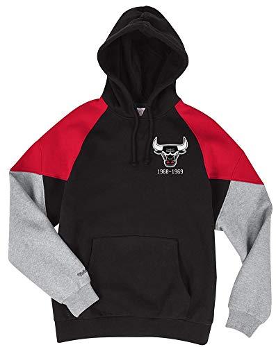 Mitchell & Ness Chicago Bulls Black Red Trading Block Hoody Hoodie Sweater Herren Mens (Sweatshirt Hoody Block)