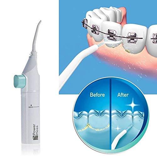 Hilai 1 PZ Portatile Dentale Flosser Idropulsore Dentale,Kapmore Irrigatore Orale Ricaricabile Dentale Idropulsore Portatile Acqua Flosser Irrigatore Orale Portatile per Igiene Dentale