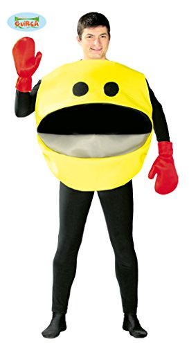 Kostüm Kinder Pacman - gelber Nimmersatt - Kostüm für Herren Gr. M/L, Größe:L