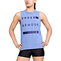 Under Armor Women's T-Shirt Muscle Tank Linear Wordmark purple-S-(1310482-574)