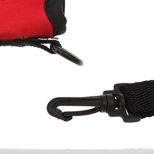 Wasserflasche Tasche Getränkerhalter Neoprenhülle / Tragetasche mit Schultergurt für Outdoor Sport Rot