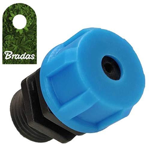 Bradas 7553 - Adaptador de Aguja con manómetro Rosca Exterior de 1/4