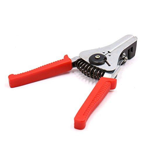 sourcing map 0.5-2.2mm Câble Métal rouge Outil coupe Clip dénuder Ciseau pour voiture