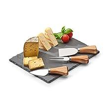 Zeller 25594 formaggio set di servire, Nero