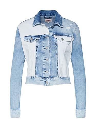 Pepe Jeans Tess Mix, Chaqueta Mujer, Azul Denim 000