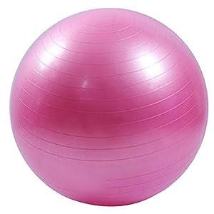 Yoga Ball Stuhl Fitness Übung Ball Balance 55 Cm Pumpe Für Haus Oder Büro,Pink,55Cm